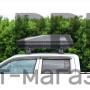 Автобокс на крышу Черный ACTIVE S (320 л) Аэродинамический с двусторонним открыванием