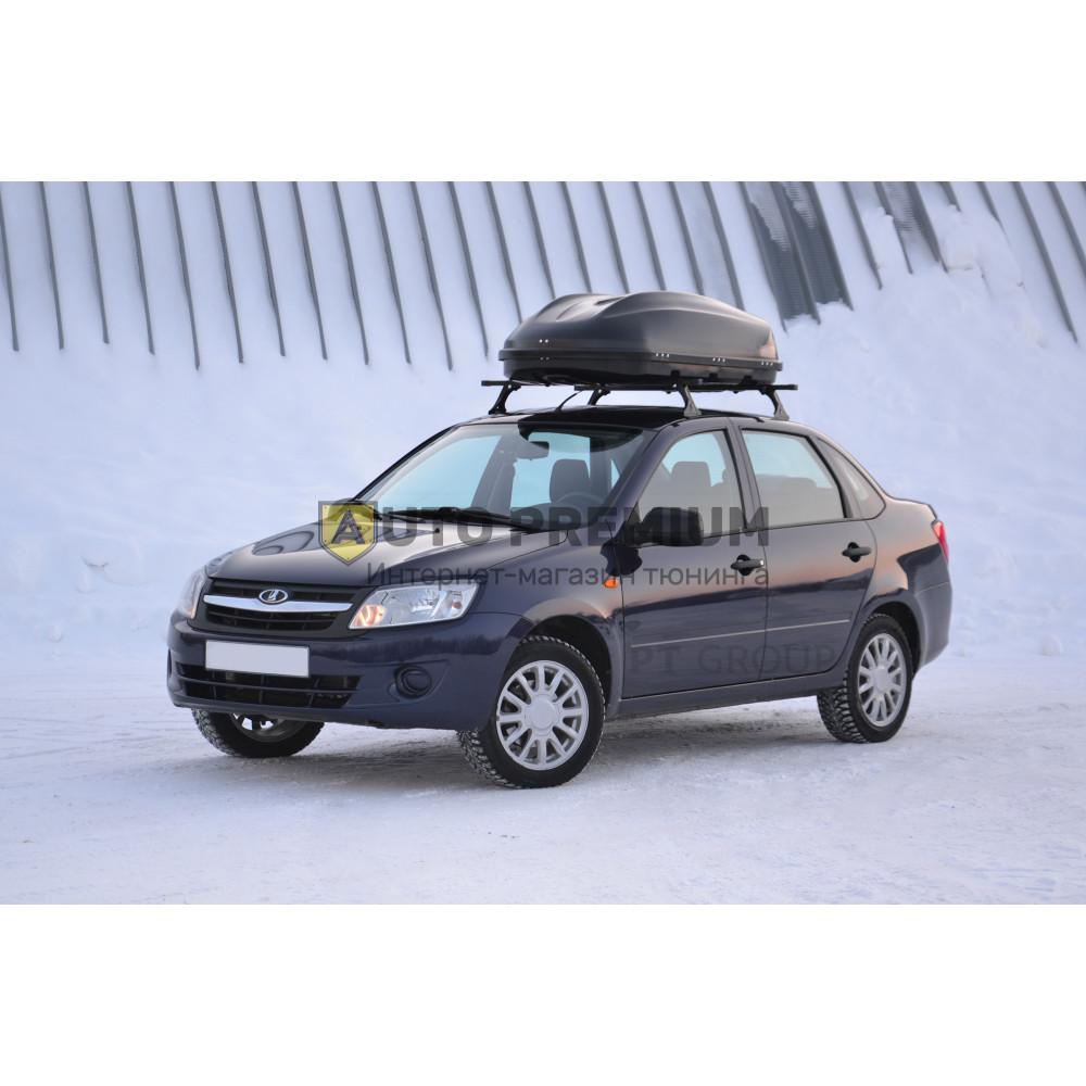Автобокс на крышу Черный Turino Compact (360 л) Аэродинамический с двусторонним открыванием на крышу автомобиля