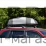 Автобокс на крышу Серый Turino Compact (360 л) Аэродинамический с двусторонним открыванием на крышу автомобиля
