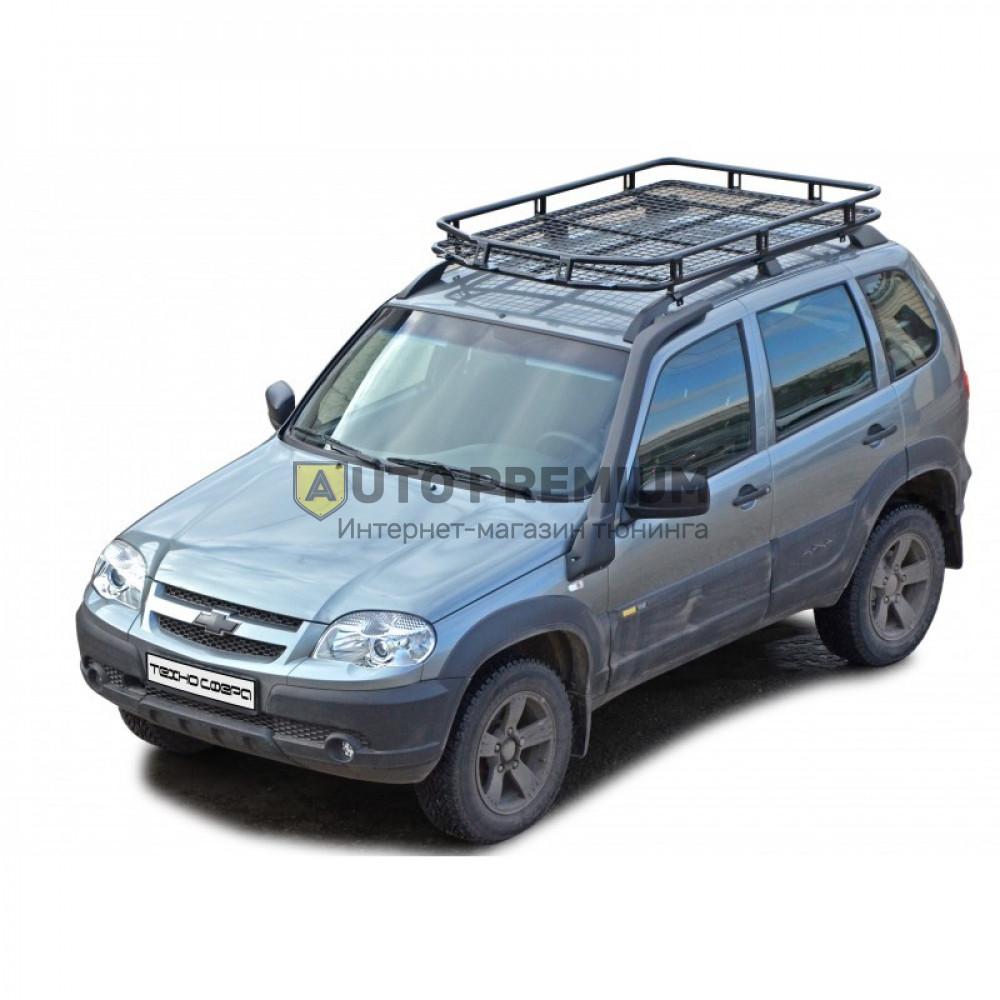 Багажник экспедиционный Трофи с сеткой на Шевроле Нива